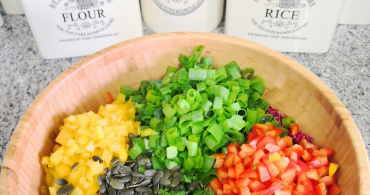 QUINOA BEET DELIGHT WITH GINGER LIME DRESSING
