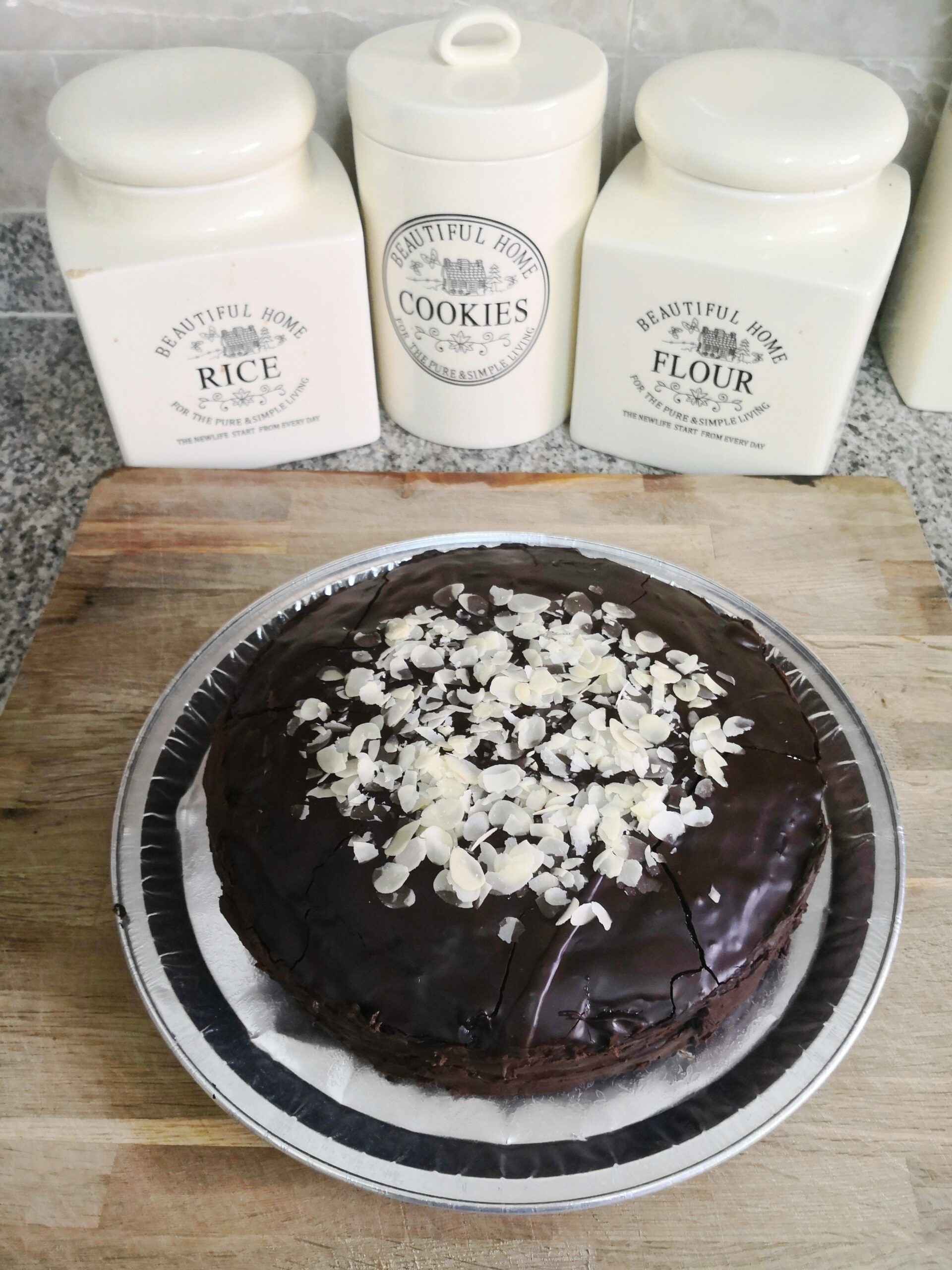 Double Chocolate Vegan Cake with Raspberry Filling