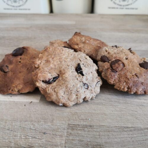 Almond Cranberry Oat Cookies
